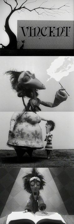 Vincent, 1982 (dir. Tim Burton). #blackandwhite #animation #movie