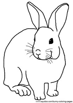 realistic rabbit coloring pages
