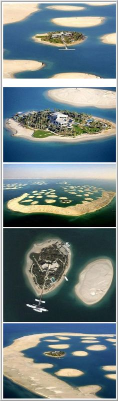After Michael Schumacher retired from Formula 1, a Dubai sheik presented him with this gorgeous island worth four and a half million euro