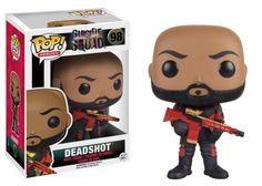 Assemble a team of the world's most dangerous, incarcerated Super Villains, provide them with the most powerful arsenal at the government's disposal, and send them off on a mission to defeat an enigmatic, insuperable entity. Psycho meets vinyl with the Suicide Squad Pop! Vinyl Figures! From the film Suicide Squad, Deadshot is featured unmasked and suited for battle.  #funko #popvinyl #actionfigure #collectible #SuicideSquad #Deadshot