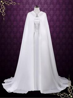 Medieval Chiffon Cloak with Hood – ieie Bridal Medieval Fashion, Medieval Dress, Mode Kimono, Fantasy Gowns, Medieval Wedding, Chinese Clothing, Beautiful Dresses, Wedding Gowns, Ball Gowns