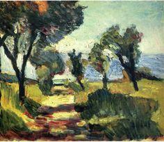 Henri Matisse - Olive Trees, 1898 - Pushkin Museum of Fine Art, Moscow Henri Matisse, Matisse Kunst, Matisse Art, Landscape Art, Landscape Paintings, Matisse Pinturas, Matisse Paintings, Art Paintings, Ouvrages D'art