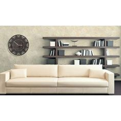 Dekorační hodiny na zeď - dumdekorace.cz Bookcase, Shelves, Couch, Furniture, Home Decor, Shelving, Settee, Decoration Home, Sofa