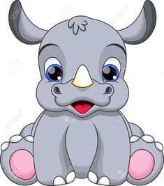 Illustration about Illustration-very cute baby rhino. Illustration of nature, funny, protect - 36187852