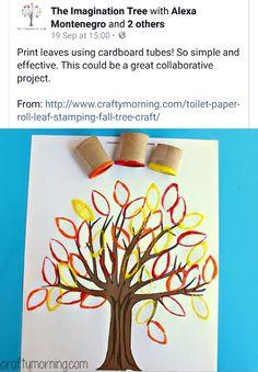 Using loo rolls to print leaves