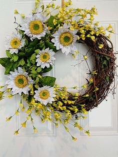 Sunflower Wreath with Yellow Flowers Front Door by KristinRebecca, $82.00