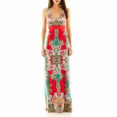 Bisou Bisou Raceback Print Maxi Dress JCP $59.99