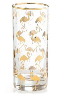 Rosanna Flamingo Highball Glasses (Set of 4)