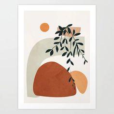 Soft Shapes I Framed Mini Art Print by City Art - White - x City Art, Art Inspo, Watercolor Art, Modern Art, Modern Prints, Art Projects, Art Drawings, Abstract Art, Canvas Prints