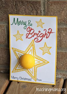 Merry and Bright Christmas Printable for Lip Balm gift idea