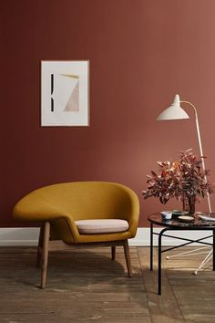 Awesome New Danish Brand Brings Back An Enormous Amount Of Mid-century Furniture – All About Home Decoration Home Interior, Modern Interior Design, Home Design, Interior Decorating, Design Ideas, Danish Interior, Interior Office, Industrial Decorating, Orange Interior