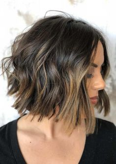 Updated trends of brunette balayage bob haircuts and hairstyles for 2018. Bob hair looks are so much liked haircuts by various age groups ladies. If you sport it with right hair color shade then you have to visit here for cutest styles of brunette balayage hair colors a long with bob haircuts.