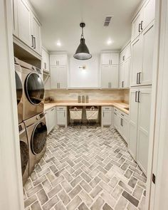 I have been absolutely in love with my laundry room in our new home! Which I also kind of find funny because I am not on Mudroom Laundry Room, Large Laundry Rooms, Laundry Room Layouts, Laundry Room Remodel, Laundry Room Organization, Laundry Room Design, Small Laundry, Laundry Room Floors, Laundry Room Cabinets