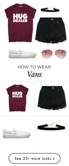 """""""i dunno"""" by nicoleirene on Polyvore featuring Vans and Anine Bing"""