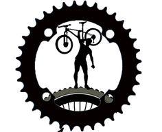 Cycling Tattoo, Bicycle Tattoo, Bike Tattoos, Bicycle Art, Cycling Art, Cycling Bikes, Cool Tattoos, Logo Velo, Bike Logo