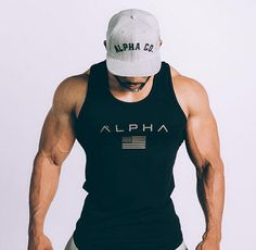 2018 ALPHA Gym Fitness Hooded Tank Top