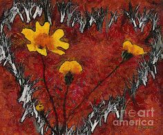 """""""Vincent's Valentine"""" ~ © 2016 RC deWinter ~ A semi-abstract, post-impressionist valentine in the style of Van Gogh; available in a variety of media, sizes and configurations."""