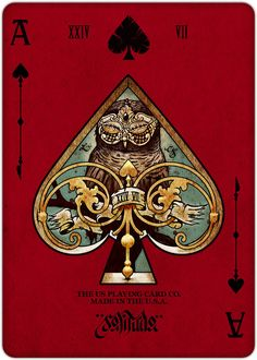 Requiem Playing Cards on Illustration Served