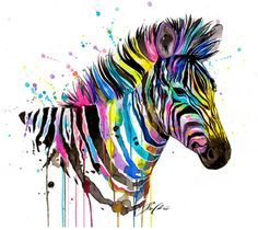 Art Print Zebra by PixieColdArt on Etsy
