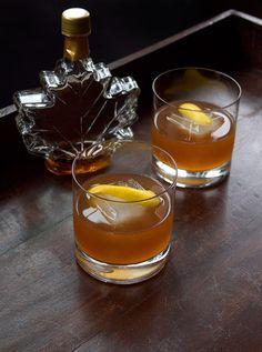 The Private Club Cocktail - Cognac, Amaro Nonino, Maple Syrup, Lemon Juice, Walnut Bitters, Angostura Bitters.