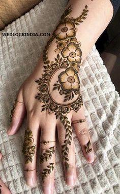 Henna Hand Designs, Eid Mehndi Designs, Mehndi Designs Finger, Modern Henna Designs, Khafif Mehndi Design, Latest Arabic Mehndi Designs, Floral Henna Designs, Henna Tattoo Designs Simple, Mehndi Designs For Girls
