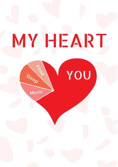 A funny Valentine's Day template with an image of a heart. Perfect for that special someone. Valentines Day Card Templates, Funny Valentine, Your Music, Romantic, Thoughts, Heart, Cards, Free, Image