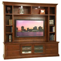 This Solid Wood Entertainment Center Sports The Shorter TV Stand And An  Upper With Plenty Of