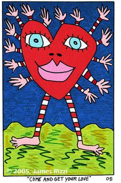 James Rizzi - Come and get your love James Rizzi, Pop Art, Happy Pictures, Funky Art, Silk Screen Printing, Art Classroom, Art Plastique, Elementary Art, Famous Artists