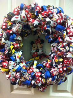 Disney wreath. It's so cute!!!
