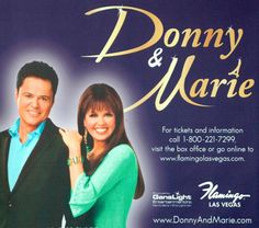 donny and marie las vegas | Donny & Marie at The Flamingo in Las Vegas - Nevada - by: Vegas Bob