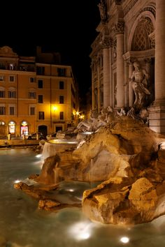 Trevi Fountain, Rome, Italy. Make your wishes...flip coin into this fountain.....how faith actually blossoms in each of us ! Just amazing  !