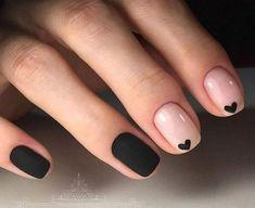 25 beautiful and simple nail designs for short nails .- 25 beautiful and simple nail designs for short nails # Thumbnail … - Stylish Nails, Trendy Nails, Cute Nails, Heart Nail Art, Heart Nails, Cute Nail Art Designs, Short Nail Designs, Simple Designs, Nail Art Coeur