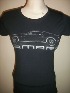 Chevrolet CAMARO Z28 T-shirt WOMENS Medium M 32  BLACK 1970 Vintage MUSCLE CAR