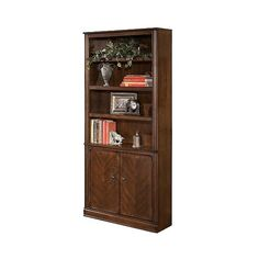 Hamlyn  Door Bookcase (16.620 RUB) ❤ liked on Polyvore featuring home, furniture, storage & shelves, bookcases, brown, shelf bookcase, brown shelf, storage shelf, storage shelves and book shelves
