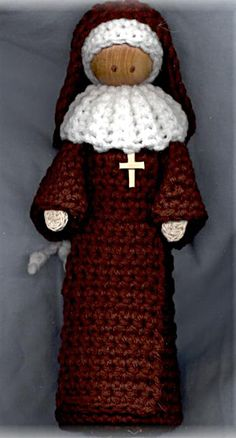 Crocheted Nun Doll Pattern. Something strikes my fancy here. I'm not Catholic, but I kind of really want to make this nun doll.
