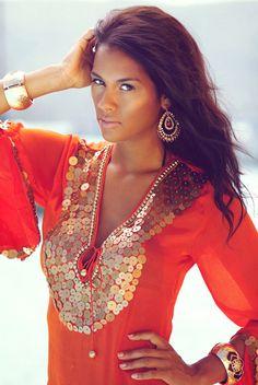 Exotically stunning Zia Zahira kaftans available at embrossia.com.au
