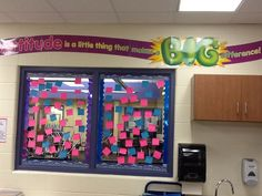 Each student gave and posted ideas of how to create a positive classroom environment. 6th Grade - K. Merlein