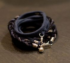 Crow Warrior Multi Wrap with silk up cycled cotton by alccreations, $118.00