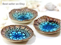 House warming gift  Wedding gift Ceramic bowls (3 bowls)  Hostess gift Home decoration Housewarming gift Christmas gift