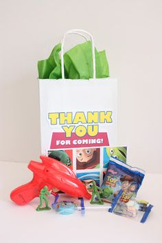 Toy story party  Party favors