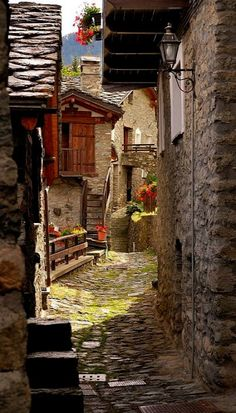 Old Street ~ Torgnon Valle d'Aosta, Italy