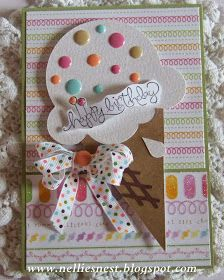 """""""Ice Cream Sprinkles"""" by Nellies Nest ~ a winner where the whole exceeds the sum of its parts Homemade Birthday Cards, Girl Birthday Cards, Homemade Greeting Cards, Bday Cards, Greeting Cards Handmade, Homemade Cards, Diy Birthday, Children Birthday Cards, Birthday Sayings"""