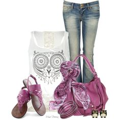 """""""It's a hoot"""" by madamedeveria on Polyvore"""