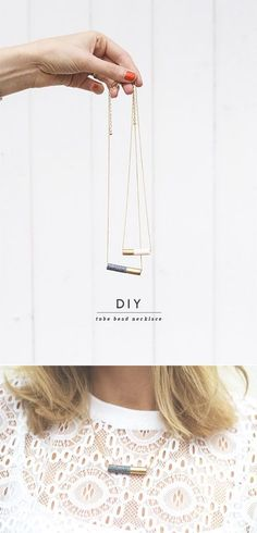 Halskette mit Röhren   41 selbstgebastelte Geschenke, die Du am Liebsten behalten willst