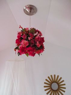 faux flouer chandelier The Design Itch: Frilly, Floral Feminine Big Girl Room