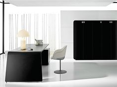 SESTANTE Lacquered office desk by IFT design Nikolas Chachamis