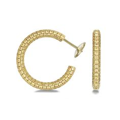 Georland    Love Colours gold and diamond hoops, price on request.