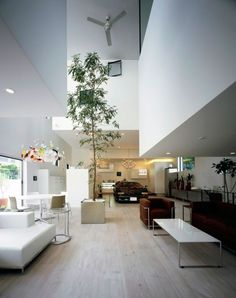 Minimalist Japanese House With An Awesome Car Elevator
