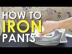 ▶ How to Iron Dress Pants | The Art of Manliness - YouTube For Dress pants don't move the iron, just press