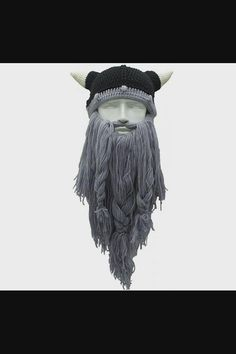 Shop Knit Beard Hat Long Bearded Horns Hat Detachable Bearded Face Mask Cap Outdoor Activities Skiing Skull Beanies now save up 50% off, free shipping worldwide and free gift, Support wholesale quotation! Beard Beanie, Mens Beanie Hats, Men's Beanies, Slouch Beanie, Knitted Beard, Knitted Hats, Viking Beard, Elastic Headbands, Mens Caps